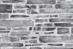 36459-1 cikkszámú tapéta.Konyha-fürdőszobai,kőhatású-kőmintás,különleges felületű,fehér,fekete,szürke,gyengén mosható,papír tapéta