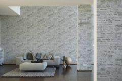 36459-2 cikkszámú tapéta.Konyha-fürdőszobai,kőhatású-kőmintás,különleges felületű,fehér,szürke,gyengén mosható,papír tapéta
