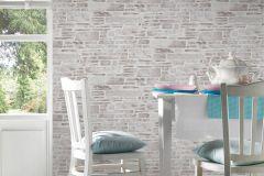 36459-3 cikkszámú tapéta.Konyha-fürdőszobai,kőhatású-kőmintás,különleges felületű,bézs-drapp,fehér,gyengén mosható,papír tapéta
