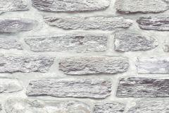 36478-2 cikkszámú tapéta.Konyha-fürdőszobai,kőhatású-kőmintás,különleges felületű,barna,fehér,szürke,súrolható,vlies tapéta