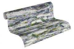 36492-1 cikkszámú tapéta.Konyha-fürdőszobai,kőhatású-kőmintás,különleges felületű,természeti mintás,fehér,szürke,gyengén mosható,papír tapéta