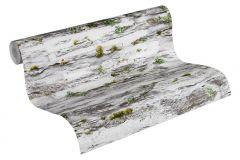 36492-2 cikkszámú tapéta.Konyha-fürdőszobai,kőhatású-kőmintás,különleges felületű,természeti mintás,fehér,szürke,zöld,gyengén mosható,papír tapéta