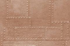 36494-2 cikkszámú tapéta.3d hatású,fémhatású - indusztriális,fotórealisztikus,barna,narancs-terrakotta,súrolható,vlies tapéta