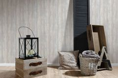 36750-1 cikkszámú tapéta.Fa hatású-fa mintás,különleges felületű,metál-fényes,barna,kék,szürke,súrolható,illesztés mentes,vlies tapéta