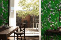 36811-2 cikkszámú tapéta.Absztrakt,különleges felületű,természeti mintás,fehér,fekete,zöld,lemosható,vlies tapéta