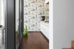 36812-2 cikkszámú tapéta.Feliratos-számos,különleges felületű,fehér,fekete,szürke,lemosható,vlies tapéta
