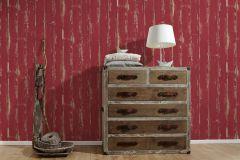 36856-1 cikkszámú tapéta.Fa hatású-fa mintás,különleges felületű,bézs-drapp,piros-bordó,illesztés mentes,súrolható,vlies tapéta