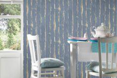 36856-3 cikkszámú tapéta.Fa hatású-fa mintás,különleges felületű,barna,kék,súrolható,illesztés mentes,vlies tapéta