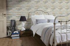 36857-1 cikkszámú tapéta.Fa hatású-fa mintás,különleges felületű,barna,bézs-drapp,fehér,türkiz,súrolható,vlies tapéta