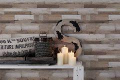 36857-3 cikkszámú tapéta.Fa hatású-fa mintás,különleges felületű,barna,bézs-drapp,fehér,súrolható,vlies tapéta