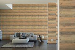 36870-1 cikkszámú tapéta.Fa hatású-fa mintás,különleges felületű,barna,bézs-drapp,narancs-terrakotta,súrolható,vlies tapéta