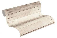36870-2 cikkszámú tapéta.Fa hatású-fa mintás,különleges felületű,barna,bézs-drapp,súrolható,vlies tapéta