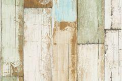 36894-2 cikkszámú tapéta.Fa hatású-fa mintás,különleges felületű,barna,bézs-drapp,zöld,súrolható,illesztés mentes,vlies tapéta