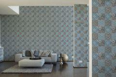 36895-5 cikkszámú tapéta.Konyha-fürdőszobai,különleges felületű,marokkói ,fehér,fekete,kék,szürke,súrolható,vlies tapéta