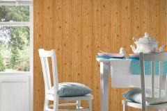 5779-24 cikkszámú tapéta.Fa hatású-fa mintás,különleges felületű,barna,narancs-terrakotta,gyengén mosható,illesztés mentes,papír tapéta