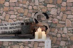 6924-12 cikkszámú tapéta.Konyha-fürdőszobai,kőhatású-kőmintás,különleges felületű,barna,bézs-drapp,narancs-terrakotta,gyengén mosható,papír tapéta