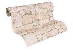 6924-29 cikkszámú tapéta.Konyha-fürdőszobai,kőhatású-kőmintás,különleges felületű,bézs-drapp,gyengén mosható,papír tapéta