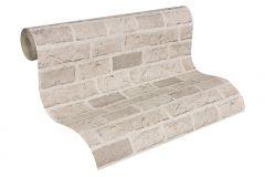 7798-30 cikkszámú tapéta.Konyha-fürdőszobai,kőhatású-kőmintás,különleges felületű,bézs-drapp,gyengén mosható,papír tapéta