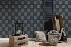 93489-2 cikkszámú tapéta.Csillámos,konyha-fürdőszobai,különleges felületű,ezüst,fekete,lemosható,papír tapéta
