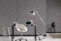 95470-2 cikkszámú tapéta.Konyha-fürdőszobai,kőhatású-kőmintás,különleges felületű,barna,narancs-terrakotta,szürke,gyengén mosható,papír tapéta