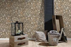 95836-1 cikkszámú tapéta.Fa hatású-fa mintás,különleges felületű,barna,bézs-drapp,gyengén mosható,papír tapéta