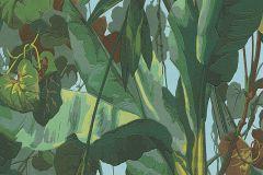 95898-1 cikkszámú tapéta.Különleges felületű,természeti mintás,barna,kék,zöld,súrolható,papír tapéta