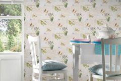 95948-2 cikkszámú tapéta.állatok,feliratos-számos,különleges felületű,rajzolt,természeti mintás,bézs-drapp,kék,lila,narancs-terrakotta,zöld,gyengén mosható,papír tapéta