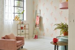36291-1 cikkszámú tapéta.állatok,gyerek,virágmintás,bézs-drapp,pink-rózsaszín,sárga,türkiz,gyengén mosható,vlies tapéta
