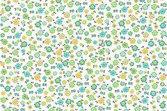 36292-1 cikkszámú tapéta.Dekor,gyerek,virágmintás,fehér,kék,narancs-terrakotta,sárga,szürke,türkiz,zöld,gyengén mosható,illesztés mentes,vlies tapéta