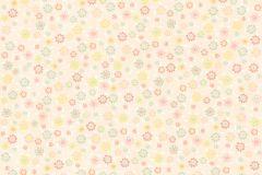36292-3 cikkszámú tapéta.Dekor,gyerek,virágmintás,fehér,pink-rózsaszín,sárga,zöld,gyengén mosható,illesztés mentes,vlies tapéta