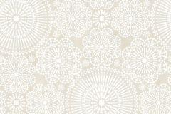 36295-3 cikkszámú tapéta.Gyerek,különleges motívumos,virágmintás,bézs-drapp,fehér,gyengén mosható,vlies tapéta