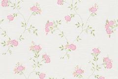 30522-1 cikkszámú tapéta.Természeti mintás,virágmintás,fehér,lila,pink-rózsaszín,vajszín,zöld,súrolható,vlies tapéta