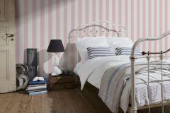 3140-17 cikkszámú tapéta.Csíkos,fehér,pink-rózsaszín,súrolható,illesztés mentes,vlies tapéta
