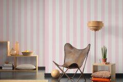 3140-86 cikkszámú tapéta.Csíkos,fehér,pink-rózsaszín,súrolható,illesztés mentes,vlies tapéta