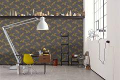 36631-3 cikkszámú tapéta.állatok,különleges felületű,barna,sárga,lemosható,vlies tapéta