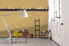 36634-5 cikkszámú tapéta.Egyszínű,különleges felületű,sárga,lemosható,illesztés mentes,vlies tapéta
