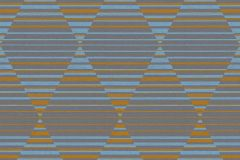 36757-3 cikkszámú tapéta.Absztrakt,geometriai mintás,különleges felületű,arany,kék,lila,szürke,lemosható,vlies tapéta