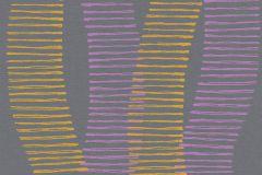 36758-3 cikkszámú tapéta.Absztrakt,dekor,különleges felületű,lila,sárga,lemosható,illesztés mentes,vlies tapéta