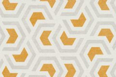36760-2 cikkszámú tapéta.Absztrakt,geometriai mintás,különleges felületű,fehér,szürke,arany,lemosható,vlies tapéta