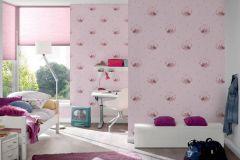 35564-1 cikkszámú tapéta.állatok,gyerek,különleges motívumos,rajzolt,pink-rózsaszín,gyengén mosható,vlies tapéta