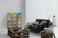 35566-3 cikkszámú tapéta.Egyszínű,különleges felületű,fehér,gyengén mosható,illesztés mentes,vlies tapéta