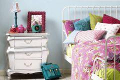 35566-5 cikkszámú tapéta.Egyszínű,gyerek,különleges felületű,kék,gyengén mosható,illesztés mentes,vlies tapéta