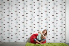35813-2 cikkszámú tapéta.Gyerek,különleges felületű,különleges motívumos,rajzolt,ezüst,fekete,piros-bordó,szürke,gyengén mosható,vlies tapéta