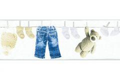 35846-1 cikkszámú tapéta.Gyerek,különleges felületű,különleges motívumos,barna,kék,sárga,vlies bordűr