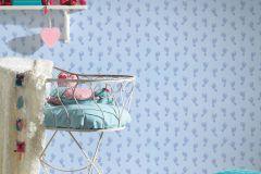 35863-2 cikkszámú tapéta.Gyerek,különleges felületű,különleges motívumos,kék,gyengén mosható,illesztés mentes,vlies tapéta
