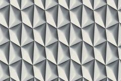 32708-2 cikkszámú tapéta.3d hatású,geometriai mintás,különleges motívumos,fehér,fekete,szürke,súrolható,vlies tapéta
