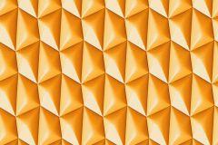 32708-3 cikkszámú tapéta.3d hatású,geometriai mintás,különleges motívumos,narancs-terrakotta,súrolható,vlies tapéta