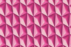 32708-4 cikkszámú tapéta.3d hatású,geometriai mintás,különleges motívumos,pink-rózsaszín,súrolható,vlies tapéta