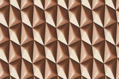 32708-6 cikkszámú tapéta.3d hatású,geometriai mintás,különleges motívumos,barna,súrolható,vlies tapéta