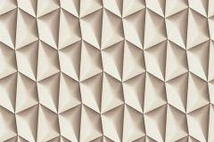 32708-7 cikkszámú tapéta.3d hatású,geometriai mintás,különleges motívumos,bézs-drapp,fehér,szürke,súrolható,vlies tapéta